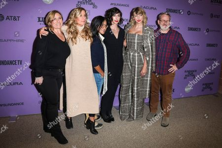 Stock Picture of Christine O'Malley, Caitrin Rogers, Lana Wilson, Taylor Swift, Morgan Neville and guest