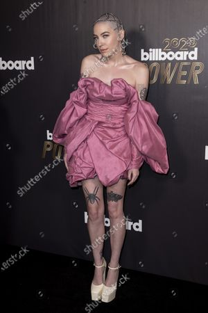 Bishop Briggs poses on the red carpet prior to the 2020 Billboard Grammy Power 100 event in Hollywood, California, USA, 23 January 2020.