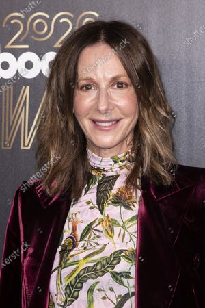 Stock Photo of Universal Music Publishing Group CEO Jody Gerson poses on the red carpet prior to the 2020 Billboard Grammy Power 100 event in Hollywood, California, USA, 23 January 2020.