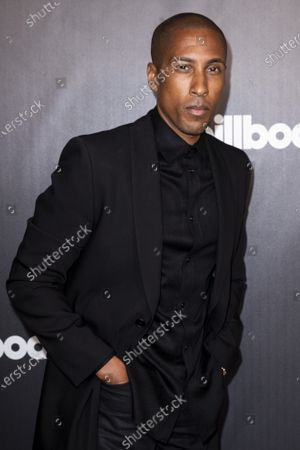 Apple Music's Larry Jackson poses on the red carpet prior to the 2020 Billboard Grammy Power 100 event in Hollywood, California, USA, 23 January 2020.