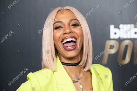 Stock Image of Jade Novah poses on the red carpet prior to the 2020 Billboard Grammy Power 100 event in Hollywood, California, USA, 23 January 2020.