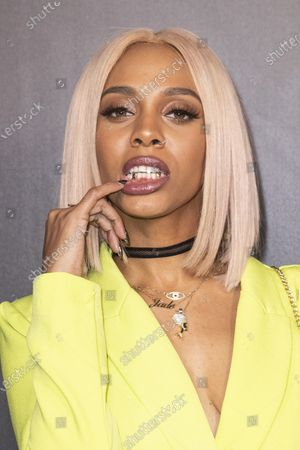Jade Novah poses on the red carpet prior to the 2020 Billboard Grammy Power 100 event in Hollywood, California, USA, 23 January 2020.