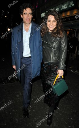 Stock Photo of Stephen Mangan and Louise Delamere
