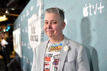 """Ali Liebegott at the Special Screening of Apple's """"Little America"""" at the Pacific Design Center."""