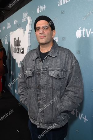 """Nima Nourizadeh, Director of the """"The Rock"""" Episode, at the Special Screening of Apple's """"Little America"""" at the Pacific Design Center."""