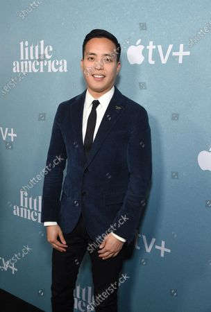 """Alan Yang, Executive Producer, at the Special Screening of Apple's """"Little America"""" at the Pacific Design Center."""