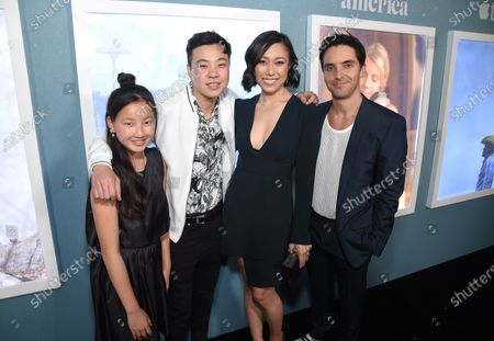 """Madeleine Chang, X. Lee, Angela Lin and Paul Downs at the Special Screening of Apple's """"Little America"""" at the Pacific Design Center."""