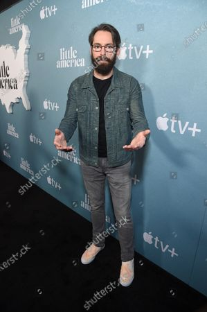 """Stock Image of Martin Starr at the Special Screening of Apple's """"Little America"""" at the Pacific Design Center."""