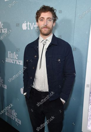 "Thomas Middleditch at the Special Screening of Apple's ""Little America"" at the Pacific Design Center."