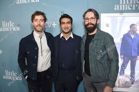 "Thomas Middleditch, Kumail Nanjiani, Writer/ Executive Producer, and Martin Starr at the Special Screening of Apple's ""Little America"" at the Pacific Design Center."
