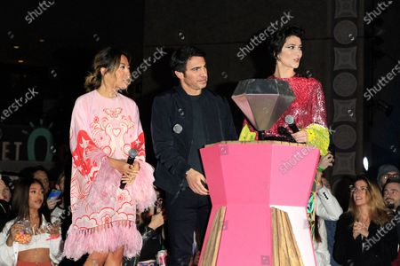 Cathy Yan, actor Chris Messina and actress Mary Elizabeth Winstead attend A Night of Music and Mayhem in Harleywood event, hosted by the cast of Birds of Prey (and the Fantabulous Emancipation of One Harley Quinn), at the Hollywood & Highland Center in Hollywood, Los Angeles, California, USA, 23 January 2020. The movie Birds of Prey will open in the US on 07 February 2020.