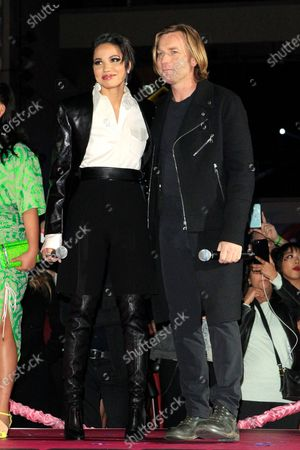 Jurnee Smollett-Bell (L) and actor Ewan McGregor (R) attend A Night of Music and Mayhem in Harleywood event, hosted by the cast of Birds of Prey (and the Fantabulous Emancipation of One Harley Quinn), at the Hollywood & Highland Center in Hollywood, Los Angeles, California, USA, 23 January 2020. The movie Birds of Prey will open in the US on 07 February 2020.