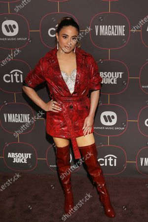US musical artist Ally Brooke poses on the red carpet at the Warner Music Group Pre-Grammy Party, at the Hollywood Athletic Club in Los Angeles, California, USA, 23 January 2020.
