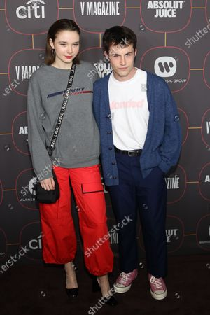 US musical artists Lydia Night and Dylan Minnette pose on the red carpet at the Warner Music Group Pre-Grammy Party, at the Hollywood Athletic Club in Los Angeles, California, USA, 23 January 2020.