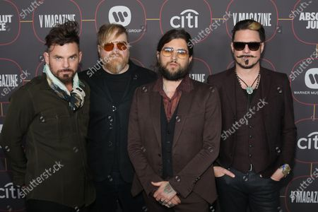 US musical artists Michael Miley, Dave Beste, Jay Buchanan and Scott Holiday  pose on the red carpet at the Warner Music Group Pre-Grammy Party, at the Hollywood Athletic Club in Los Angeles, California, USA, 23 January 2020.