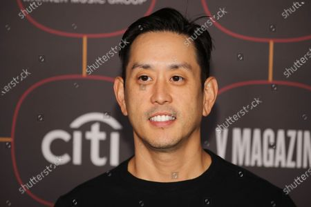US musical artist Joe Hahn poses on the red carpet at the Warner Music Group Pre-Grammy Party, at the Hollywood Athletic Club in Los Angeles, California, USA, 23 January 2020.