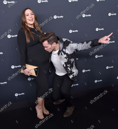 Stock Picture of Andy Grammer and Aijia Lise