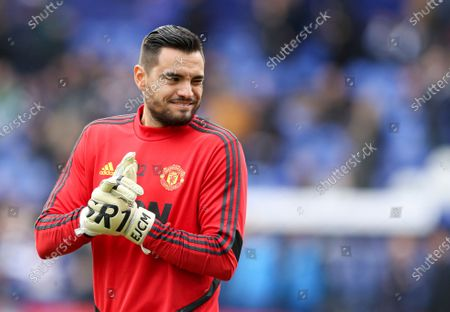 Sergio Romero of Manchester United during the warm up