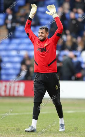 Stock Picture of Sergio Romero of Manchester United during the warm up
