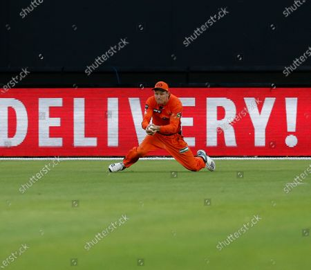 24th January 2020; Optus Stadium, Perth, Western Australia, Australia; Big Bash League Cricket, Perth Scorchers versus Adelaide Stikers; Cameron Bancroft of the Perth Scorchers catches out Jake Weatherald of the Adelaide Strikers