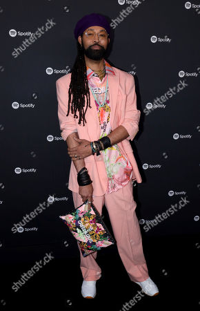 Stock Photo of Ty Hunter arrives at the 2020 Spotify Best New Artist Party at The Lot Studios, in West Hollywood, Calif