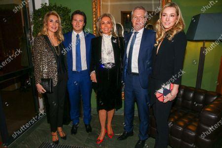 Gabriele princess of Leiningen, Aly Muhammad prince Aga Khan, Renate Thyssen-Henne, Fritz Hoppichler, princess Theresa of Leiningen