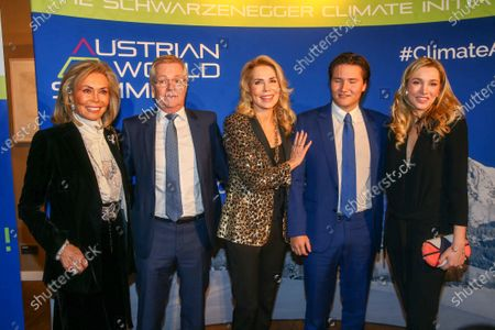 Renate Thyssen-Henne, Fritz Hoppichler, Gabriele princess of Leiningen, Aly Muhammad prince Aga Khan, princess Theresa of Leiningen