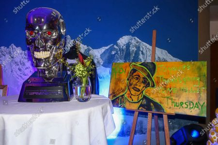 Terminator skull, painting by Sylvester stallone