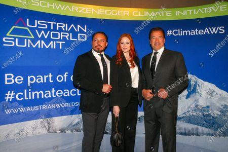 Klemens Hallmann, Barbara Meier, Arnold Schwarzenegger