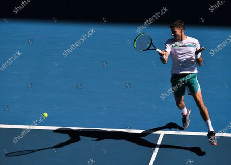 Pablo Carreno Busta in action during his Men's Singles Third Round match