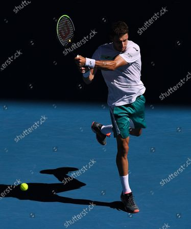 Stock Image of Pablo Carreno Busta in action during his Men's Singles Third Round match