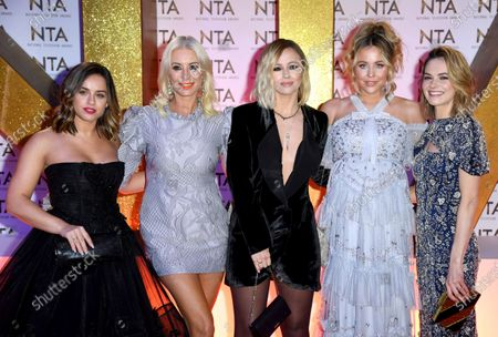 Georgia May Foote, Denise Van Outen, Kimberley Walsh, Lydia Bright and Kara Tointon