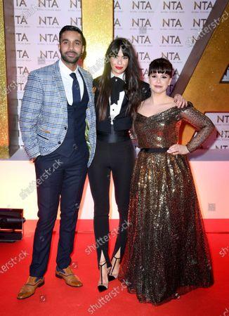 Stock Picture of Rishi Nair, Jennifer Metcalfe and Jessica Fox