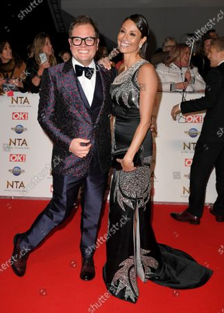 Stock Image of Alan Carr and Melanie Sykes