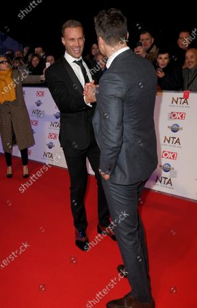 Stock Picture of Calum Best and Gary Lucy