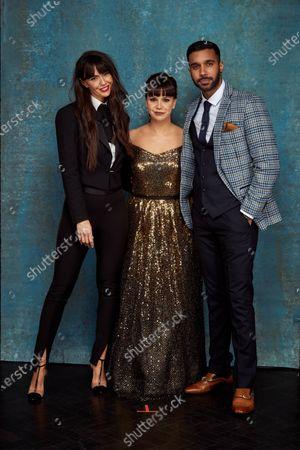 Stock Photo of Exclusive - Jennifer Metcalfe, Jessica Fox and Rishi Nair
