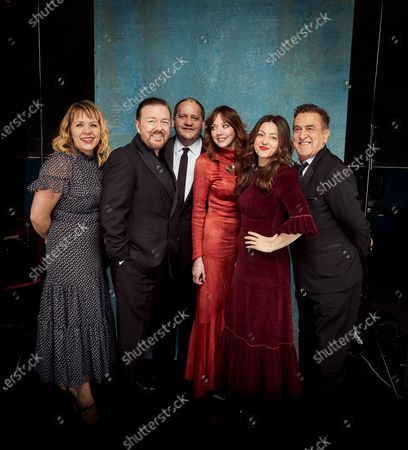 Stock Picture of Exclusive - Kerry Godliman, Ricky Gervais, Tony Way, Diane Morgan, Jo Hartley and Guest