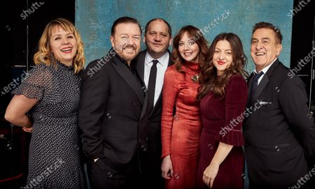 Stock Photo of Exclusive - Kerry Godliman, Ricky Gervais, Tony Way, Diane Morgan, Jo Hartley and Guest