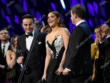 Stock Image of Exclusive - Anthony McPartlin, Jacqueline Jossa and Declan Donnelly - The Bruce Forsyth Entertainment Award - I'm A Celebrity