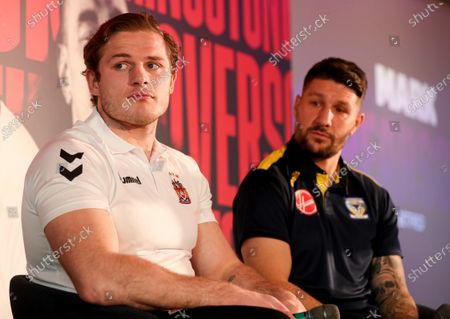 George Burgess and Gareth Widdop during the launch