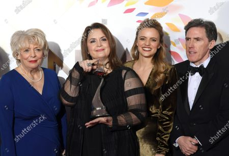 Alison Steadman, Ruth Jones, Laura Aikman and Rob Brydon - Impact Award - 'Gavin and Stacey'