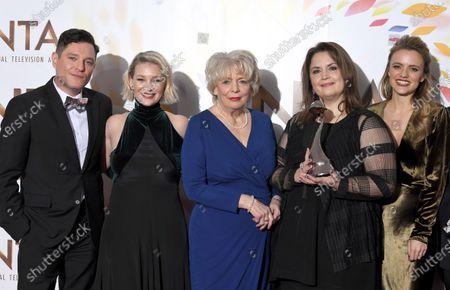 Stock Photo of Mathew Horne, Joanna Page, Alison Steadman, Ruth Jones and Laura Aikman - Impact Award - 'Gavin and Stacey'