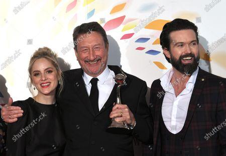 Sophie Rundle, Steven Knight and Emmett J Scanlan - Drama Award - 'Peaky Blinders'