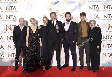 Sophie Rundle, Steven Knight, Emmett J Scanlan and Harry Kirton - Drama Award - 'Peaky Blinders'