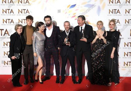 Sophie Rundle, Steven Knight, Emmett J Scanlan, Harry Kirton - Drama Award - 'Peaky Blinders' with Anna Friel