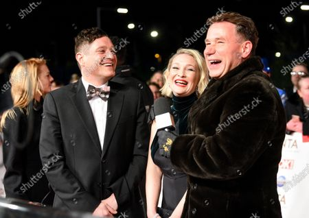 Joanna Page and Mathew Horne with Richard Arnold