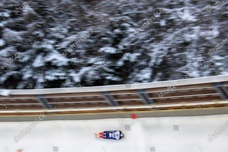 Stock Photo of Kim Ji-soo of South Korea in action during the men's Skeleton World Cup in Schoenau am Koenigsee, Germany, 24 January 2020.