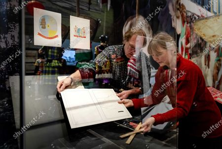 The original declaration of independence of Suriname, the document that was signed at the time by Queen Juliana, is placed in the showcase and added to the exhibition in De Nieuwe Kerk, Amsterdam, 24 January 2020. The Dutch colony became independent on November 25, 1975.