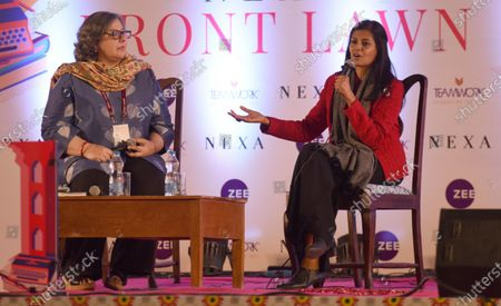 Actor Nandita Das in conversation with Kaveree Bamzai during 'Manto and I' session on the inaugural day of Zee Jaipur Literature Festival 2020, at Hotel Diggi Palace