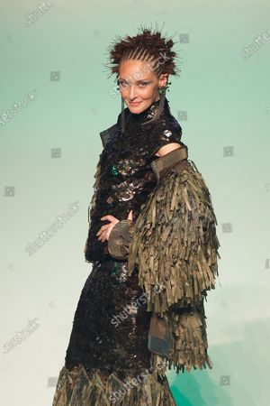 Stock Image of Chrystele Saint Louis Augustin on the catwalk
